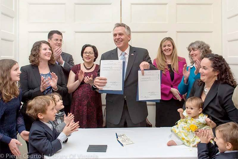 Bill signing protecting breastfeeding in Virginia
