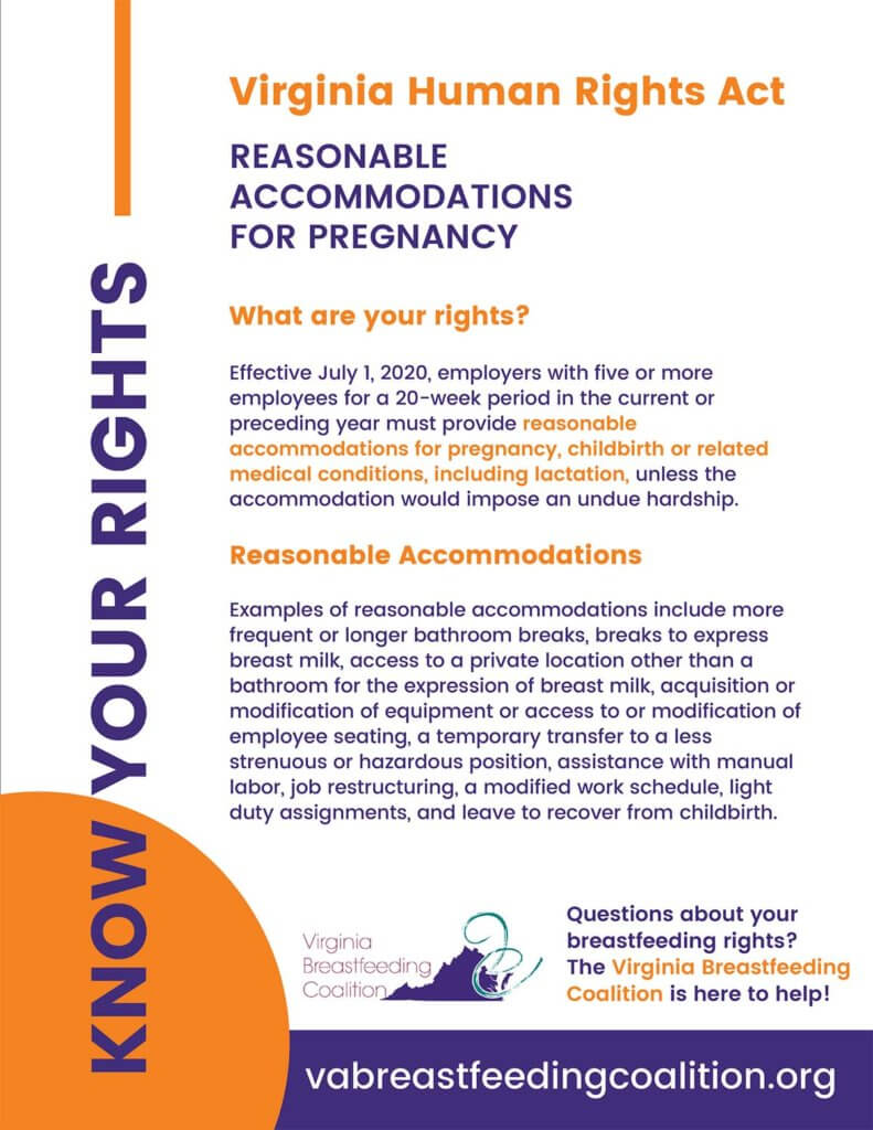 Virginia Workplace Lactation Law Accommodations