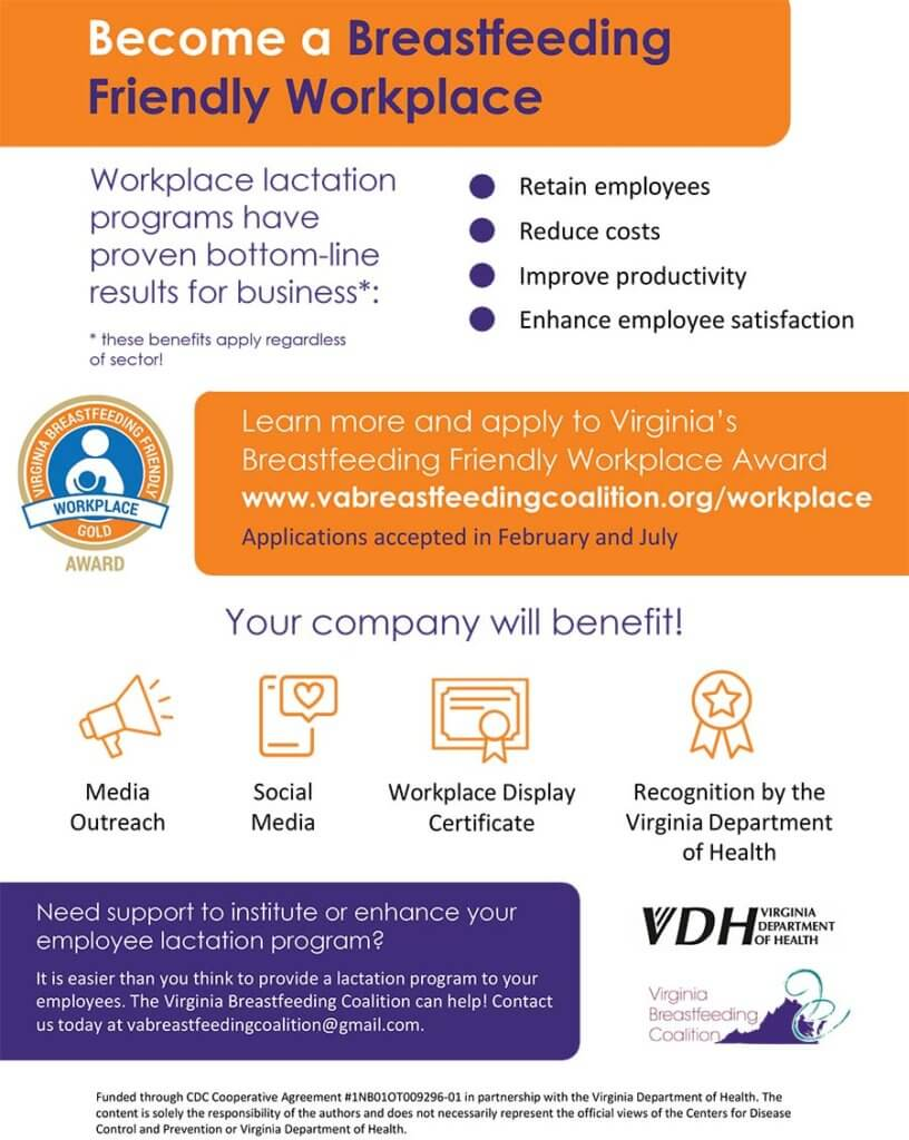 Become a breastfeeding friendly workplace